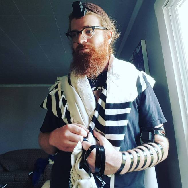 ken lane in tefillin